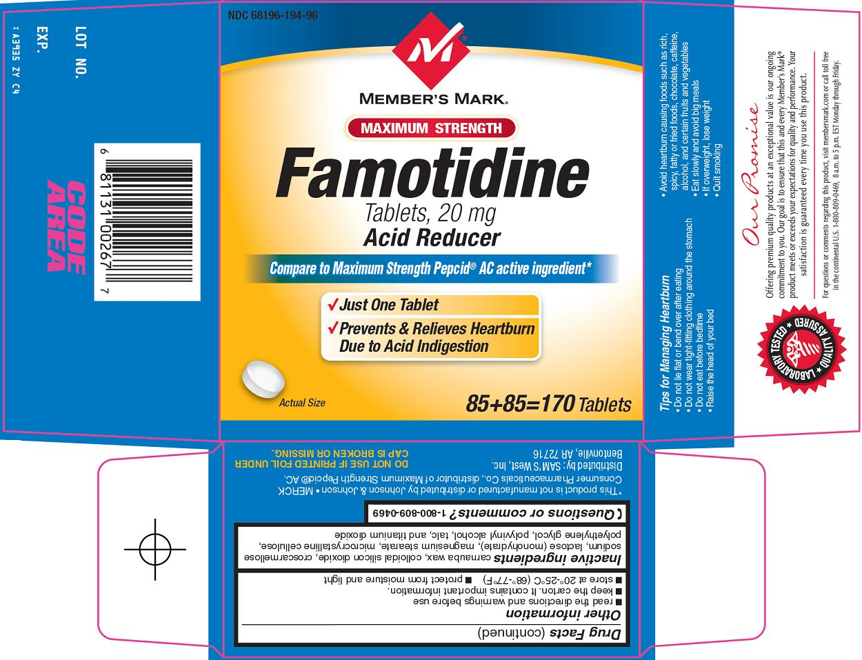 famotidine side effects